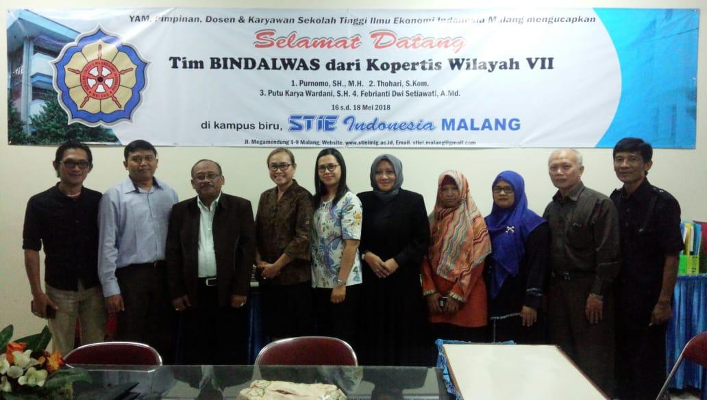 Kunjungan Tim Pembinaan, Pengendalian dan Pengawasan (Bindalwas) Kopertis Wilayah VII